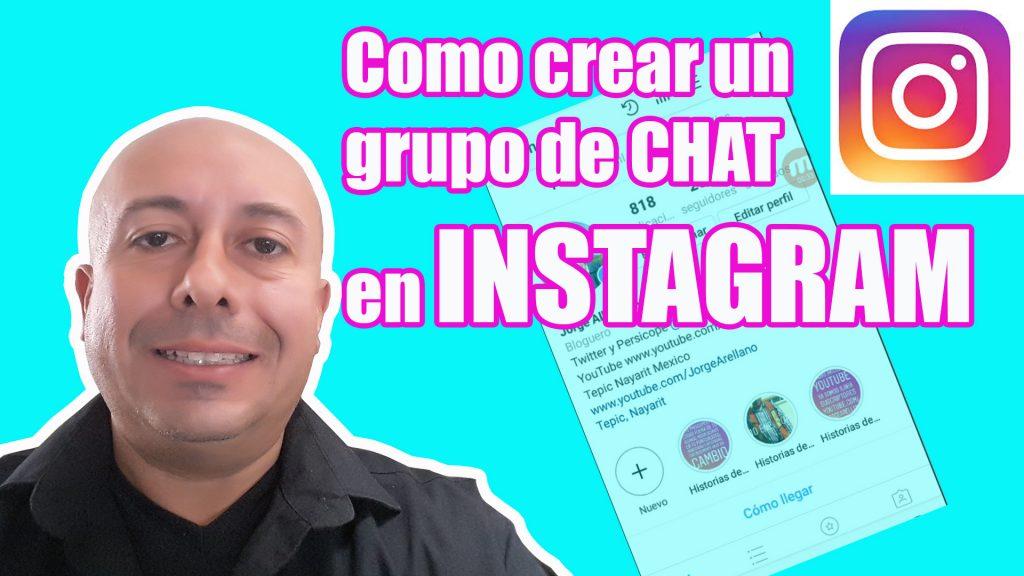 como crear un grupo de chat en Instagram