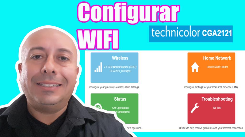 Como configurar red inalambrica de nuestro ruteador Technicolor CGA2121
