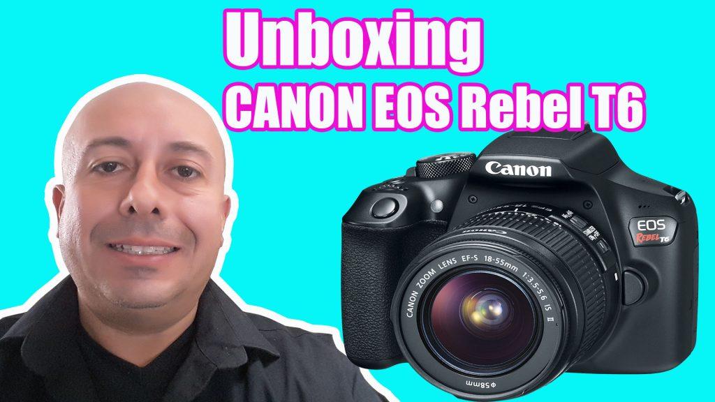 unboxing camara canon eos T6
