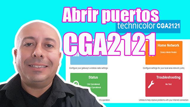 Abrir puertos Technicolor CGA2121